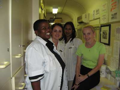 Staff and students in the pharmacy